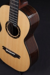 Hand built acoustic guitar by luthier Jay Rosenblatt