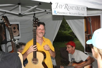 Exhibiting hand-built acoustics at Maplewoodstock. Photo; Michael Retiman
