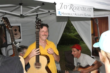 Exhibiting hand-built acoustics at Maplewoodstock. Photo; Michael Retiman