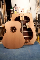 Top and back ready for assembly