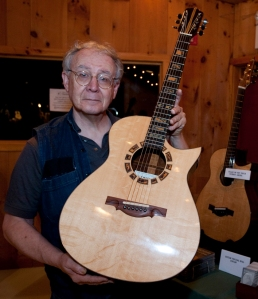 Irvin Somogyi with one of his guitars. Photo © Jay Rosenblatt.