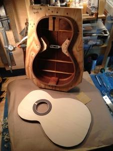 Walnut Parlor JR Guitar, Jay Rosenblatt luthier