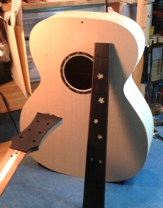 Jay Rosenblatt JR Guitar in progress