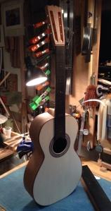 Walnut Parlor Guitar in progress. guitar by Jay Rosenblatt. © Jay Rosenblatt Photo