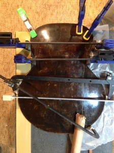 Clamping the back pieces