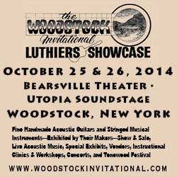 Come see Jay Rosenblatt Guitars in Woodstock, NY in October.