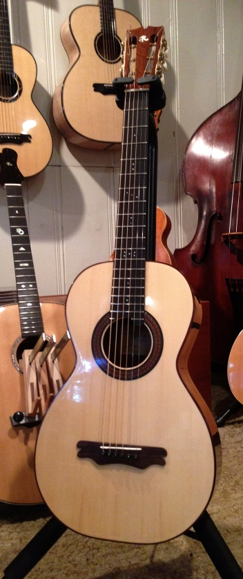 Hand built walnut Parlor Guitar by Jay Rosenblatt Luthier.