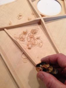 Hand Carving the x braces and tone bars on a Jay Rosenblatt Guitar