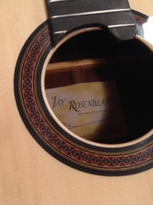 Classical Rosette on Parlor Guitar by © Jay Rosenblatt