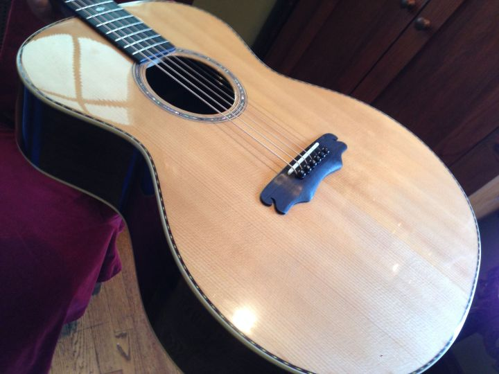 45 year old sitka with Rosewood back and sides 00 guitar by Jay Rosenblatt