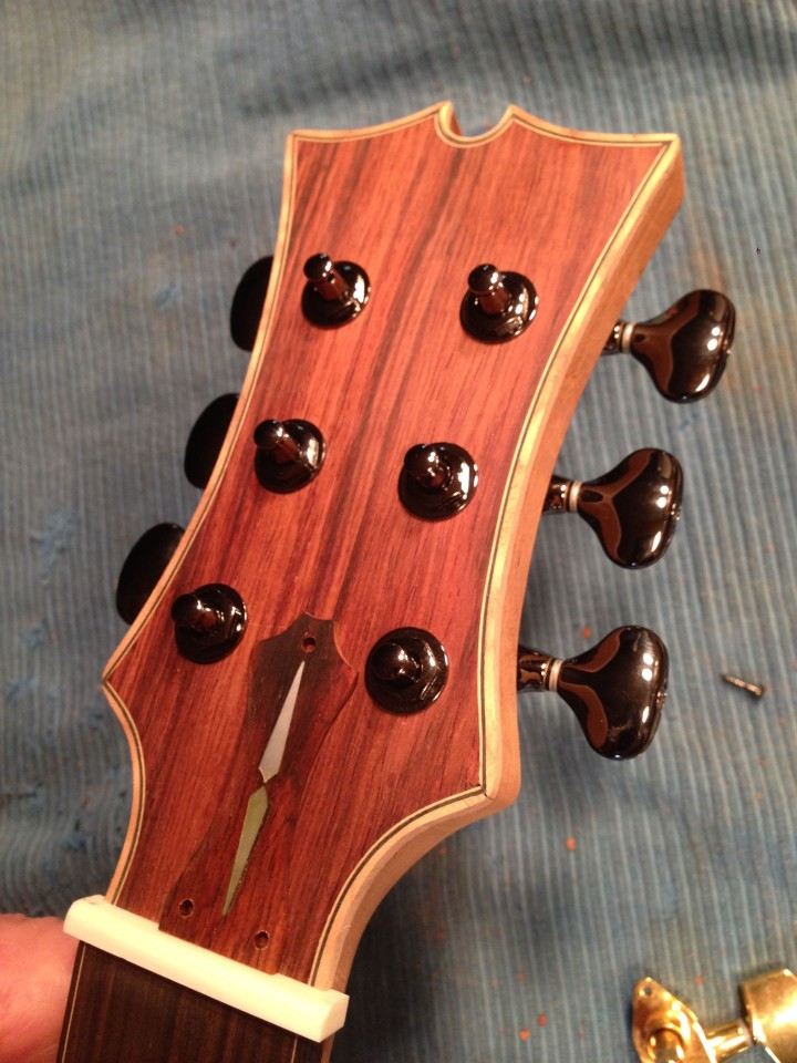 Test fitting ot tuning machines. Gotoh 510s in cosmo black