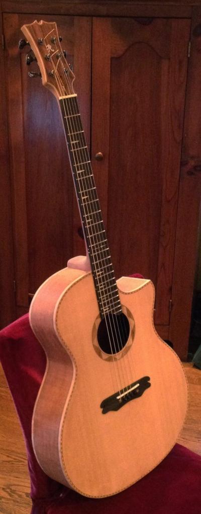 Jay Rosenblatt Guitars Handbuilt Mahaogany Cutaway Guitar © 2015
