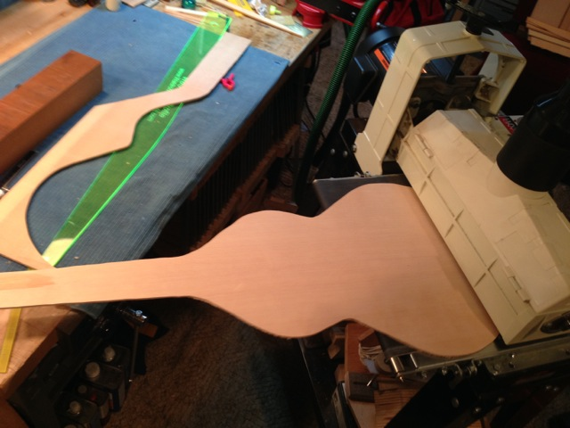 The template was traced to the top plates, cut out and sanded to thickness.