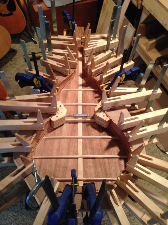 The back of the Weissenborn has been attached to the sides © Jay Rosenblatt Guitars