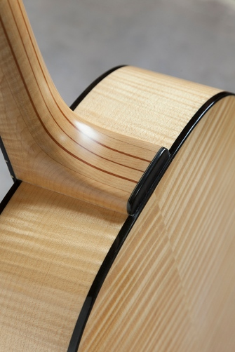 Curly maple and Sitka acoustic guitar by Jay Rosenblatt Bearclaw and Curly Maple acoustic guitar by Jay Rosenblatt