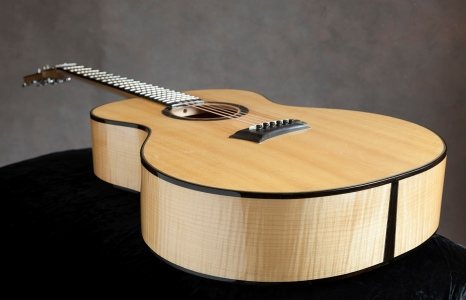 Curly maple and Sitka acoustic guitar by Jay Rosenblatt