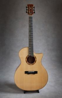 hand built mahogany venetian cutaway acoustic guitar with Sitka Soundboard by Jay Rosenblatt