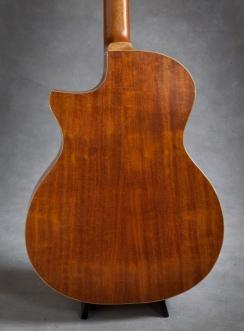hand built mahogany venetian cutaway acoustic guitar with Sitka Soundboard