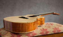 hand built mahogany venetian cutaway acoustic guitar with Sitka Soundboard