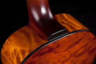 Hand built acoustic parlor guitar by luthier Jay Rosenblatt