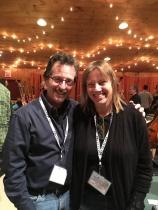 Posing with a great guitar maker, Linda Manzer