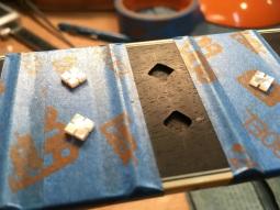 Diamond after build inlays on Customers guitar