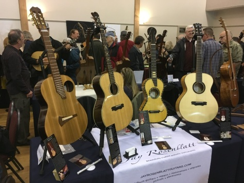 Exhibiting at The Laconner Guitar festival, May 2017