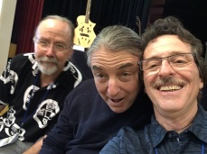 Brent McElroy, Sheldon Schwartz and myself at LaConner Guitar Fest.