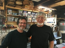 Myself with Tom Ribbeke at his shop, August 2017