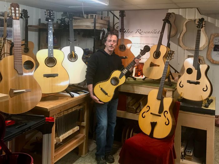Jay Rosenblatt and some handbuilt guitars